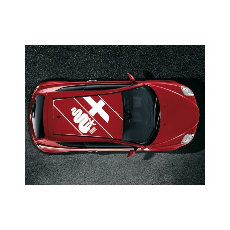 sticker de toit biscione alfa romeo mito rouge. Black Bedroom Furniture Sets. Home Design Ideas